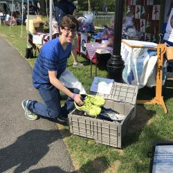 GNF attendee recycles sneakers