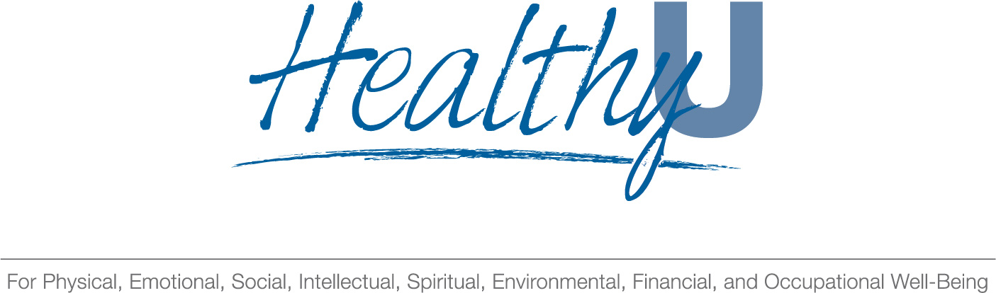 The HealthyU logo identifies the 8 dimensions of wellness included in the program
