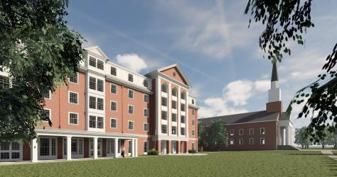 New residence hall and Chapel
