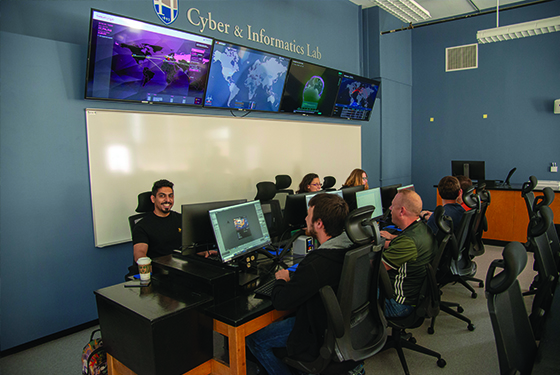 Cyber and information lab room
