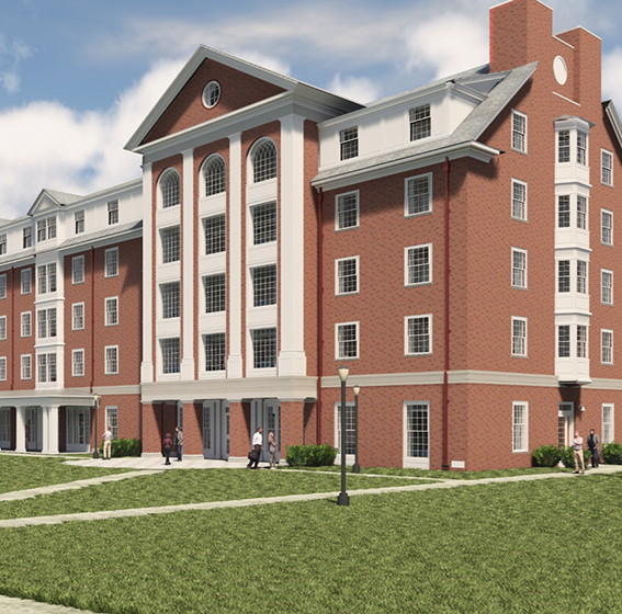 Rendering of new res hall