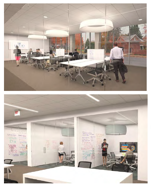 Renderings of library renovations