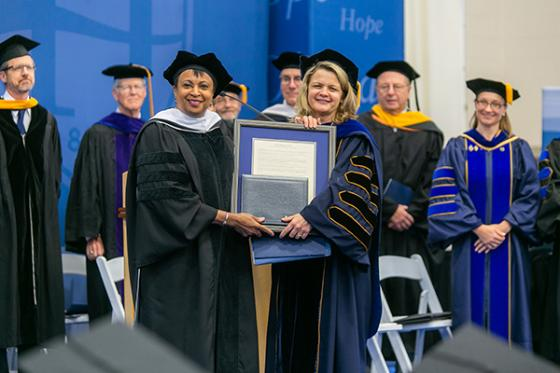 With Commencement Speaker Carla Hayden, Librarian of Congress
