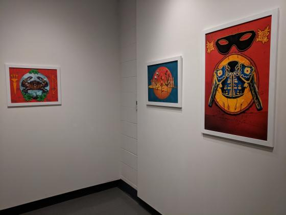 Artwork on display in the Hodson Gallery