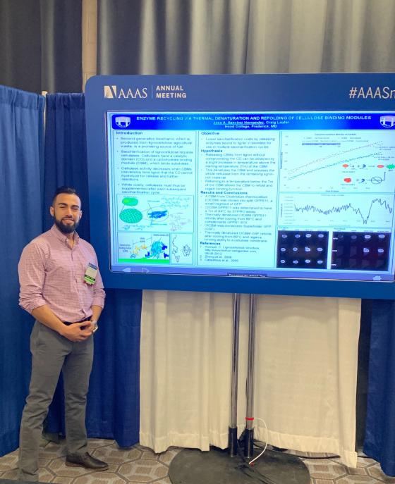 Hood College Biomedical Graduate Student, Jose Sanchez, Presents at AAAS Meeting