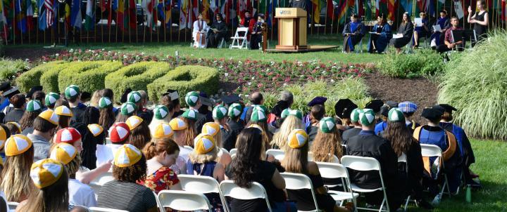 Convocation crowd