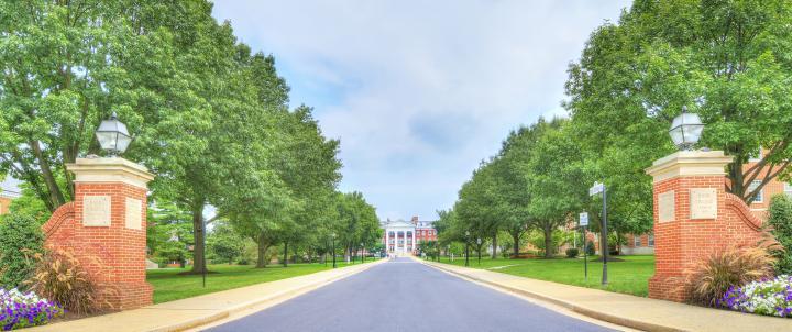 Entrance to campus