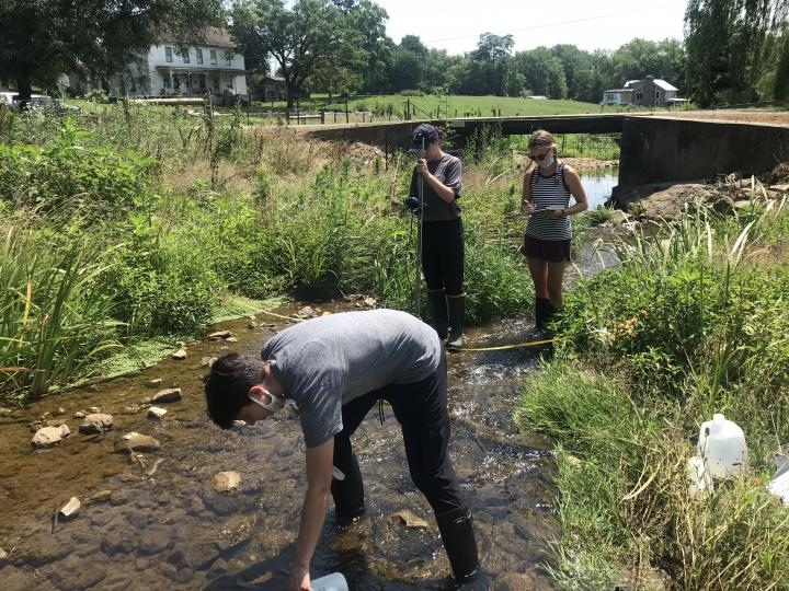 photo of watershed stream studies