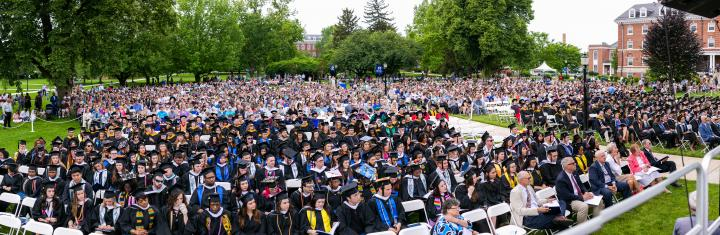 Commencement on the Quad