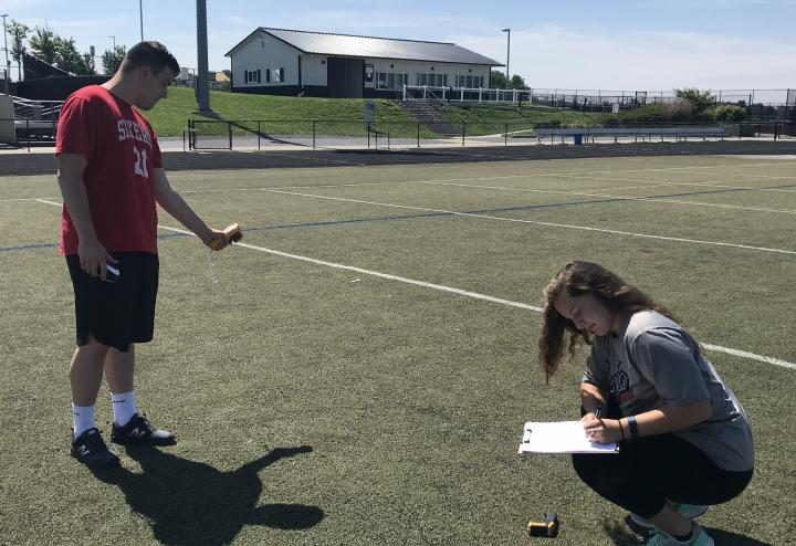 Students measure surface temperature