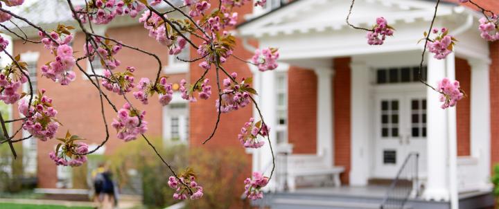 Brodbeck Hall in spring